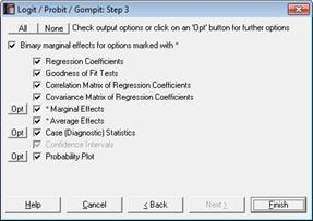 Probit marginal effects dummy variables
