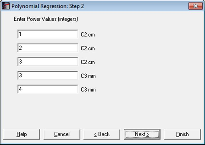 Unistat Statistics Software | Polynomial Regression