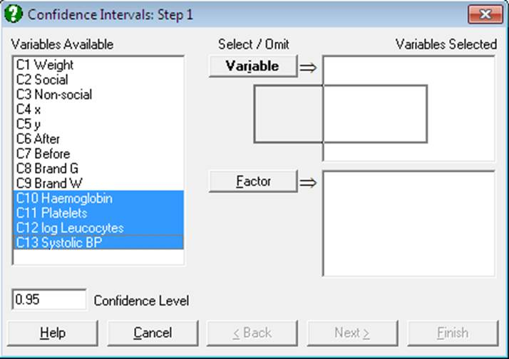 Variable Selection Dialogue